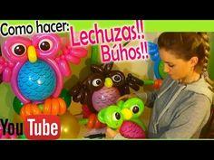Como hacer Lechuzas o Búhos en globos! How to make balloon Owls ! - YouTube Diy Balloon, Owl Balloons, How To Make Balloon, Balloon Flowers, Balloon Decorations, Sculpture Ballon, Owl Pet, Balloon Shapes, Balloon Animals