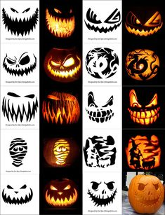 Holiday Parties 171840542018267979 - Free-Printable-Scary-Halloween-Pumpkin-Carving-Patterns-Stencils-&-Ideas Source by aurelieplouvier Scary Pumpkin Carving, Halloween Pumpkin Carving Stencils, Halloween Pumpkin Designs, Scary Halloween Pumpkins, Pumpkin Carving Patterns, Halloween Diy, Printable Pumpkin Stencils, Scary Pumpkin Faces, Witch Pumpkin Stencil