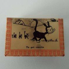 Vintage Australian WWI  Celluloid Wrap Matchbox Holder Cartoon Comical Cat Advertising Tobiaccana by VintageBlackCatz on Etsy