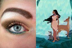 Pocahontas inspired make up