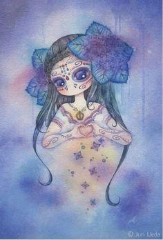 """""""Día de la Regina"""" 19cm x 28cm watercolor on paper"""