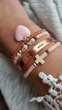 Ibiza bracelet  peach