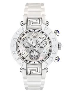 Reve Mother Of Pearl Chrono Bracelet Watch, 39mm by Versace Watches at Gilt