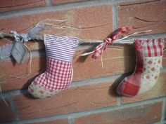 Patchwork Mini Christmas Stocking Garland