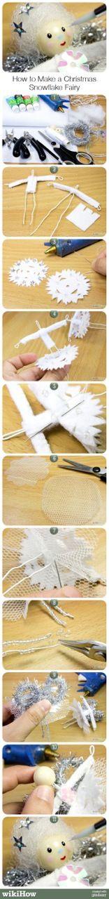 How to Make a Christmas Snowflake Fairy