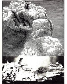Wojciech Tylbor-Kubrakiewicz Destrozatanques, from the Battlefield landscape series.  2008, linocut with litho, 60 x 80 cm, paper size 70 x 100 cm. Won Museum and Collection award in Edmonton Print International 2008 in Canada.