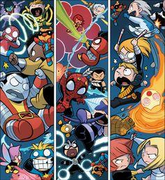Avenger babies vs X-Men babies by Skottie Young