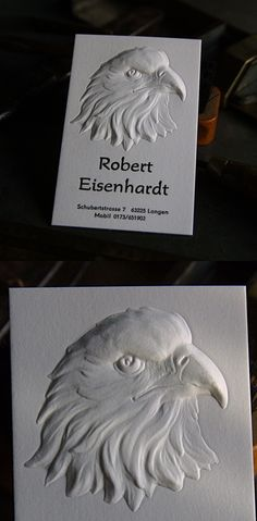 Brilliant Deeply Embossed 3D Letterpress Business Card