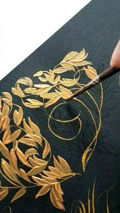 Canvas Painting Tutorials, Diy Canvas Art, Fabric Painting, Islamic Art Calligraphy, Wedding Stationery, Wedding Invitation, Art Tutorials, Diy Art, Flower Art