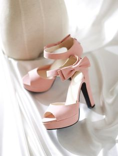 Bowtie Buckle Strap Spike Cone High Heels Open Round Toe Pump – 4 Colors