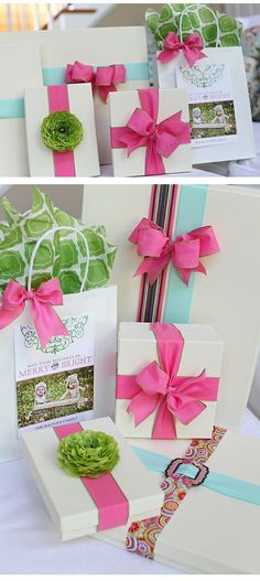 pink and green packaging