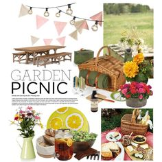 Garden Picnic Party by reddotdaily on Polyvore featuring interior, interiors, interior design, home, home decor, interior decorating, Lipper, L'Atelier du Vin, Bulbrite and C. Wonder