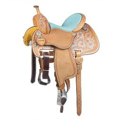 Barrel saddle - The light colors make it look so pretty and dainty-looking.