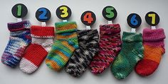 The Adventures of the Gingerbread Lady: PATTERN: Advent Baby Socks