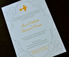 Airplane Wedding Invitation or Save the Date by PowerhousePaper, $3.75