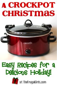 Crockpot Christmas Recipes!  {Easy Recipes for a Delicious Holiday!}...Crockpot Cranberry Chicken, Crockpot Ham, Crockpot Meatballs, Baked Potatoes, Sweet Potatoes, Devil's Food Cake, Carrot Cake, Chocolate Mud Cake, Hot Chocolate, and apple cider recipes