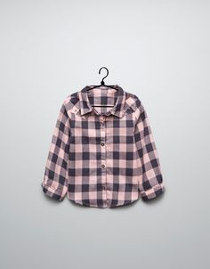checked shirt with studs