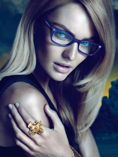 Versace Eyewear Fall 2011 Campaign | Candice Swanepoel by Mert & Marcus