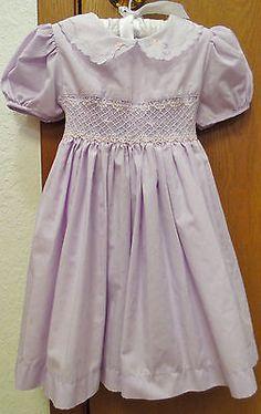 CANELLA Smocked Lavender Dress Girls Size 3T Lovely Vintage Style