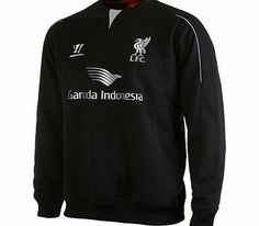 Warrior Liverpool Training Sweatshirt Black WSTM412 Liverpool Training Sweatshirt BlackStay warm as you train whatever the weather in this stylish blackLiverpool Training Sweatshirt. With a four way stretch mesh to the centre front neck insert and pi ht