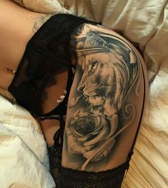 #tattoo lion on hip