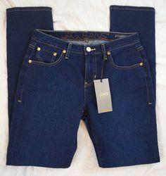 Jag Jeans Hattie Mid Rise Slim Nightfall Wash Womens Jeans Size 8 NWT (Q13#1213) #JagJeans #SlimSkinny