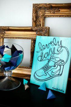 Lovely Day Sneaker Drawing / Jennifer's Mondo Village of Greatness