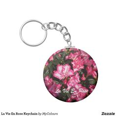 Pink and White Polka Dots Basic Round Button Keychain 17th Birthday, Car Birthday, Round Button, Custom Buttons, Autism Awareness, Pansies, Abstract Pattern, Spring Flowers, Create Your Own