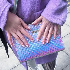 Holographic bag and lilac x