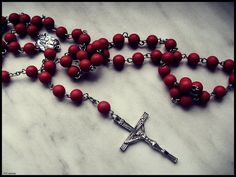 """The Rosary is one of the most cherished prayers of our Catholic Church.  Introduced by the Creed, the Our Father, three Hail Mary's and the Doxology (""""Glory Be"""