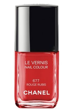Red Chanel nail color #4thofJuly