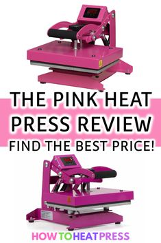 The Pink Heat Press is great for home crafts & small business. Find out where you can get the best price on the pink heat press machine! Diy Vinyl Projects, Teen Projects, Cricut Explore Projects, Craft Projects, Cricut Heat Transfer Vinyl, Cricut Iron On Vinyl, Patterned Heat Transfer Vinyl, Vinyl On Glass, Cricut Tutorials