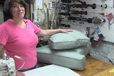 In this online video class you will learn how to make a T-cushion.  This cushion has boxing, cording/welt and a zipper placket.  www.kimsupholstery.com