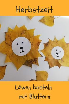 Herbstbasteln Löwen We made lions with great autumn leaves. Autumn time with children is handicraft time. Halloween Crafts For Toddlers, Fall Crafts For Kids, Toddler Crafts, Halloween Kids, Diy For Kids, Halloween Halloween, Handmade Christmas Decorations, Christmas Crafts For Kids, Autumn Drawing