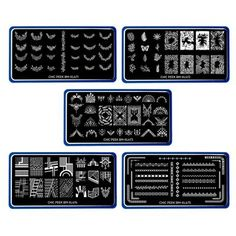 BMC's Chic Peek collection comes with 5 floral and tribal nail stamping plates