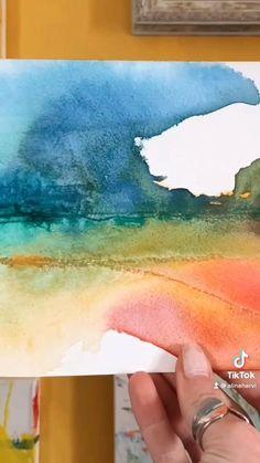 Tree Watercolor Painting, Watercolor Landscape, Abstract Watercolor, Abstract Landscape, Landscape Paintings, Online Art Courses, Watercolor Techniques, Watercolors, Art Drawings