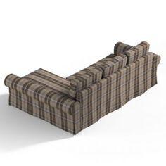 Poťah na sedačku Backabro (rozkladacia) s ležadlom, tkanina 115-76 hnedo béžové káro, Kolekcia Edinburg    #backabro#potah#ikea#karo Ikea, Couch, Furniture, Home Decor, Settee, Decoration Home, Ikea Co, Sofa, Room Decor