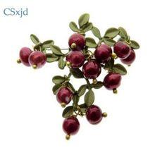 CSxjd vintage brosche schmuck Grün das backen Farbe Cranberry Natürliche Perlen brosche schals schnalle Zubehör(China (Mainland))