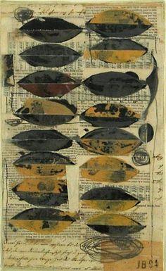 John Belingheri ~ Owlight (mixed media collage)