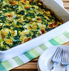 Power Greens Breakfast Casserole with Feta and Mozzarella (Low-Carb, Gluten-Free) | Kalyn's Kitchen®