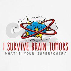 I Survive Brain Tumors T-Shirt on CafePress.com