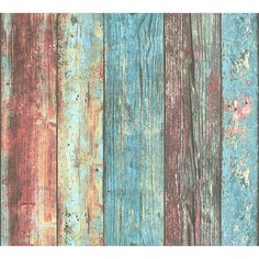 Bloomsbury Market Best OF Wood'n Stone - Modern Wood Stone Brick Colourful Wallpaper Roll Wood Plank Wallpaper, Look Wallpaper, Wallpaper Panels, Colorful Wallpaper, Peel And Stick Wallpaper, Rustic Barn, Barn Wood, Shabby Chic Tapete, Country Backgrounds
