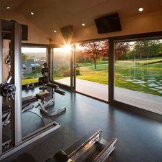 Dream Home Gym, Gym Room At Home, Home Gym Decor, Workout Room Home, Workout Rooms, Gym Interior, Home Interior Design, Home Gym Design, House Design
