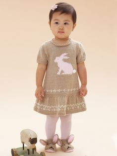 Honey Bunny Dress | Yarn | Free Knitting Patterns | Crochet Patterns | Yarnspirations