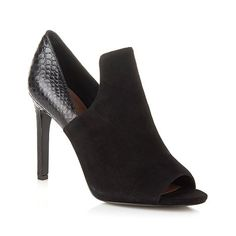 """Vince Camuto """"Kawa"""" Suede and Leather Open-Toe Shootie"""