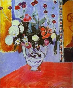 Vase with Two Handles (A Bunch of Flowers) - Henri Matisse