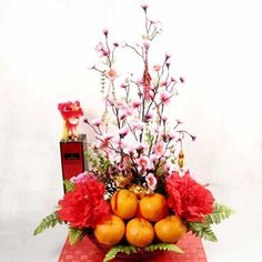 chinese new year flower decorations - Google Search                                                                                                                                                                                 More