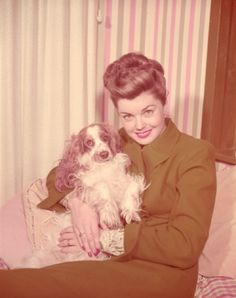 Esther Williams... With her spaniel