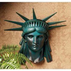 STATUE OF LIBERTY FRIEZE DESIGN TOSCANO liberty statues  liberty wall sculptures #DesignToscano