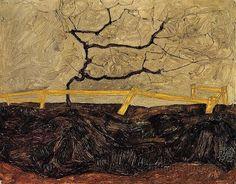 Egon Schiele Landscape A Fence   Flickr - Photo Sharing!